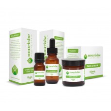 Gift Pack - Nourishe Skincare Face Cleansing Oil 25ml, Hydrating Face Oil 10ml & Face Cream 60ml